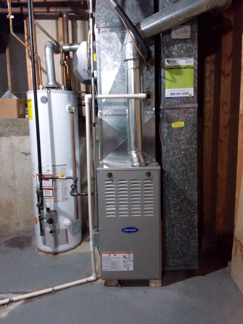 Alsip, IL - New carrier FURNACE  install with humidifier