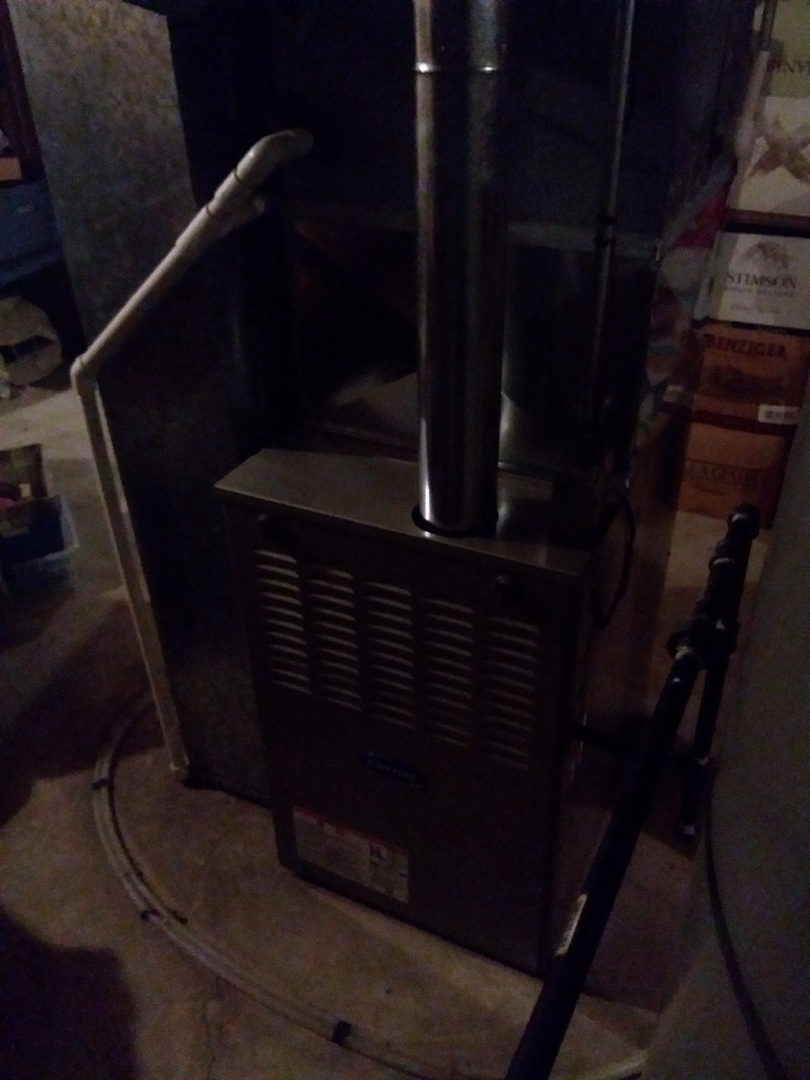 Naperville, IL - Installation of new carrier furnace replacing old carrier furnace
