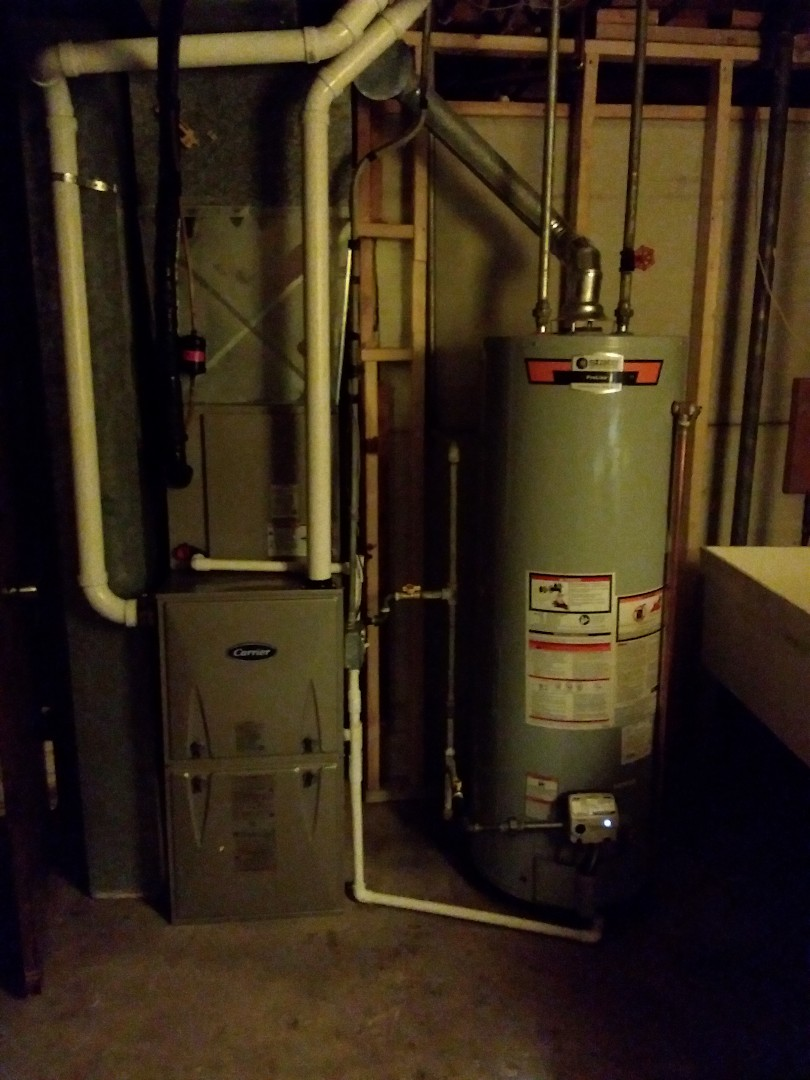 Alsip, IL - New carrier high performance furnace/AC & water tank replacement