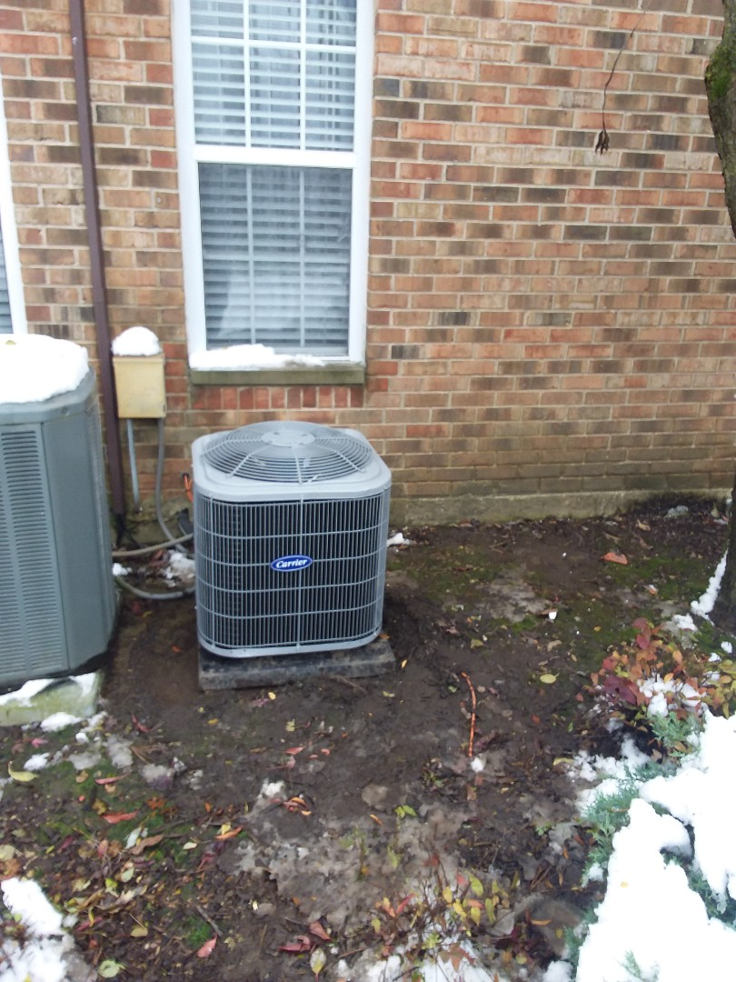 Installation of carrier furnace and air conditioner