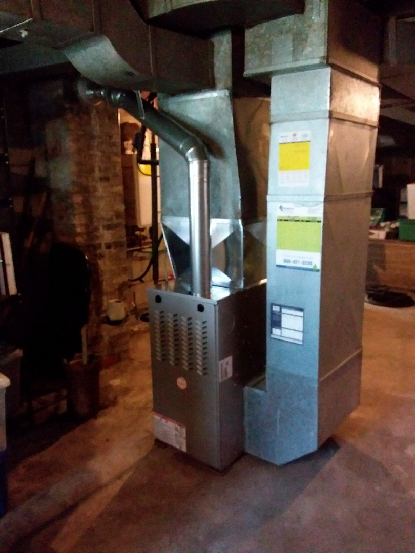 Berwyn, IL - Installation of new Payne furnace replacing old American standard furnace