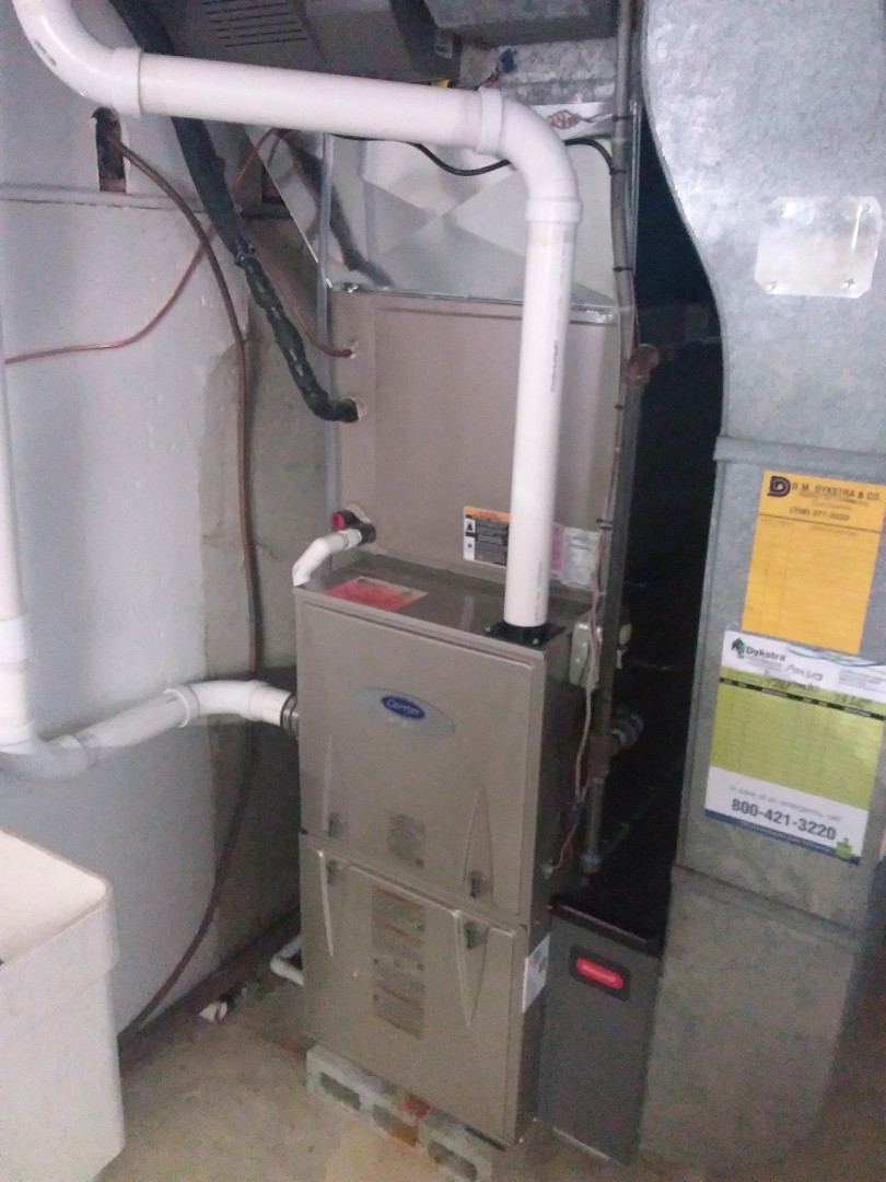 Orland Park, IL - Install of a carrier furnace