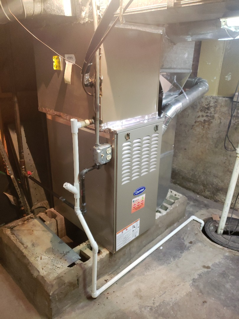 Lansing, IL - New carrier furnace installation