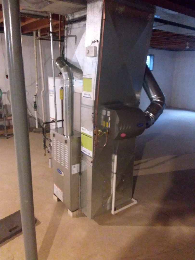 Frankfort, IL - Install of a carrier furnace and coil