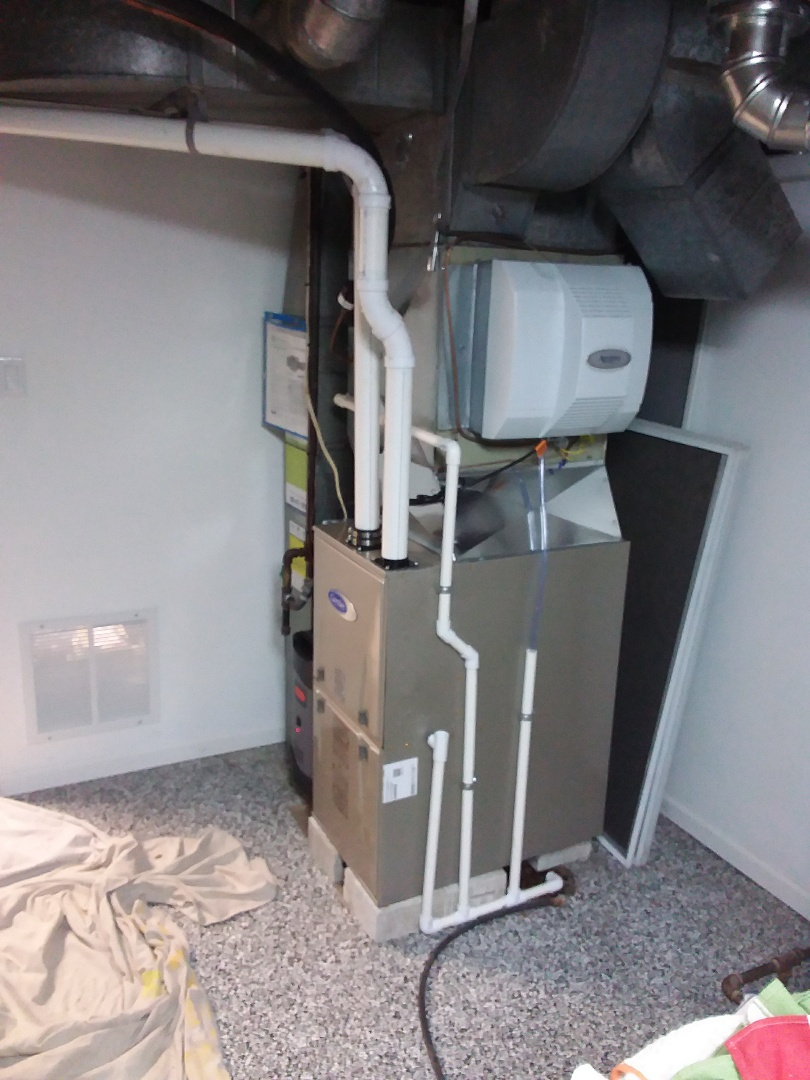Installation of new carrier furnace replacing old carrier furnace