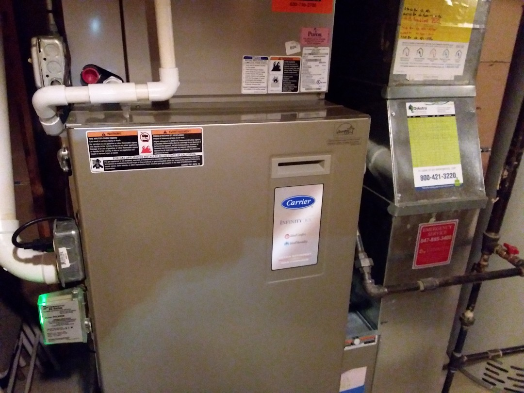Schaumburg, IL - Cleaned and checked furnace and humidifier