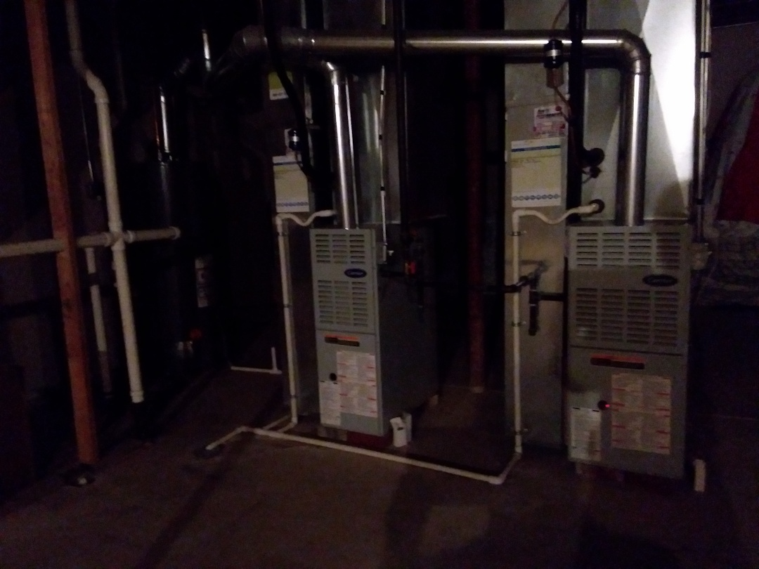 Carol Stream, IL - Cleaned and checked 2 furnaces