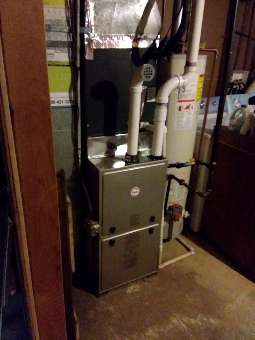 Elgin, IL - Installation of new Payne furnace replacing old Goodman furnace