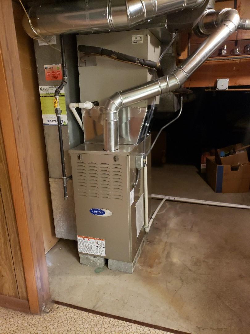 Oak Lawn, IL - Carrier furnace installation