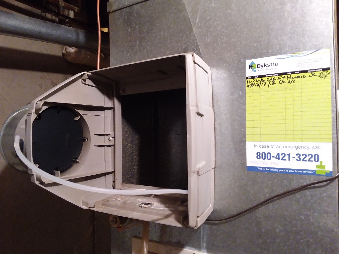 Carol Stream, IL - Cleaned and checked furnace and humidifier