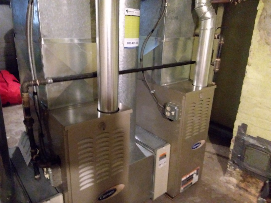 Melrose Park, IL - Cleaned and checked 2 furnaces