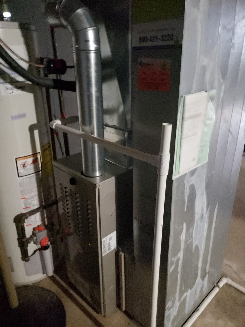 Payne furnace installation replacing carrier furnace
