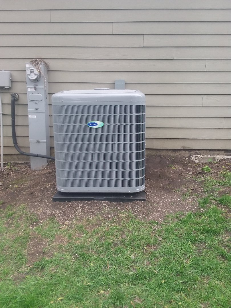 Installation of infinity control air conditioner