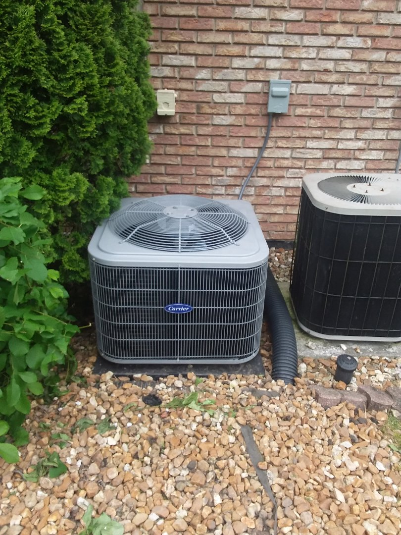 Tinley Park, IL - Installation of Carrier Air Conditioner