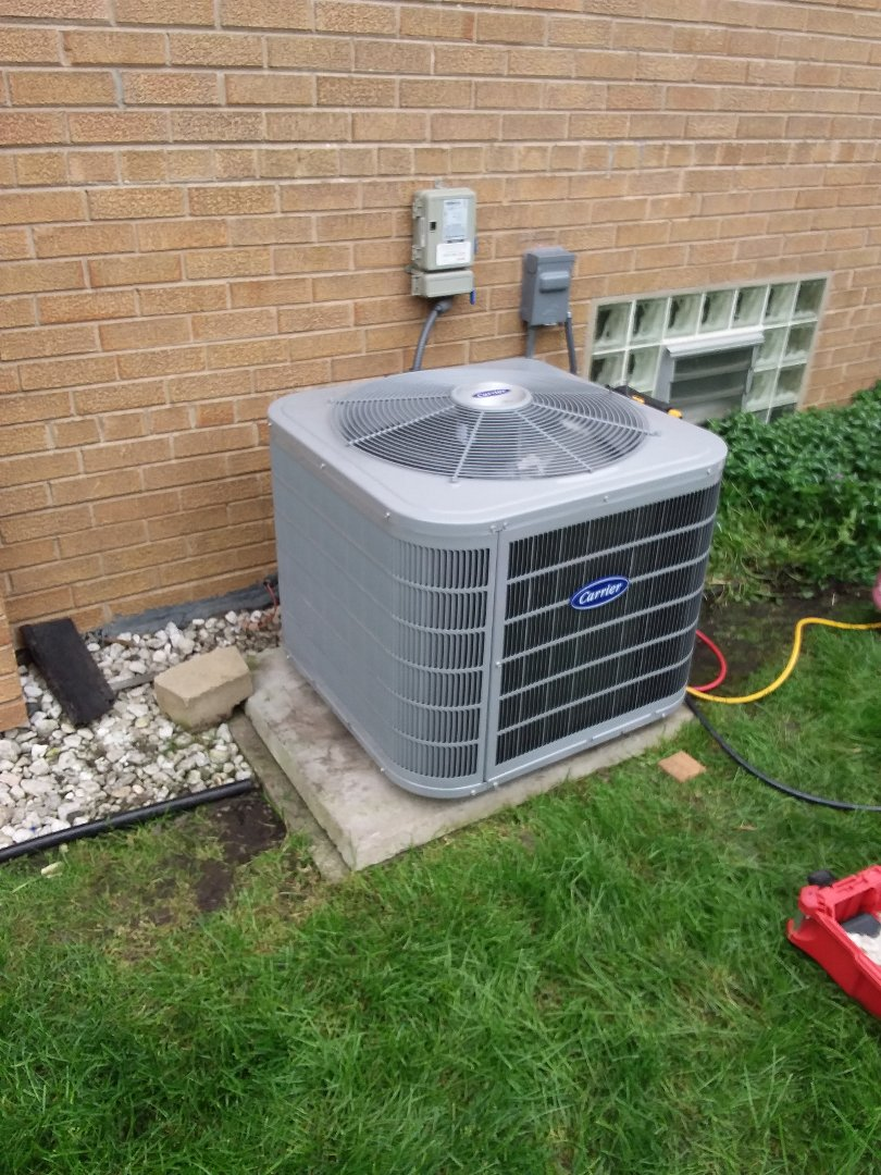 Evergreen Park, IL - Install of a ac system carrier