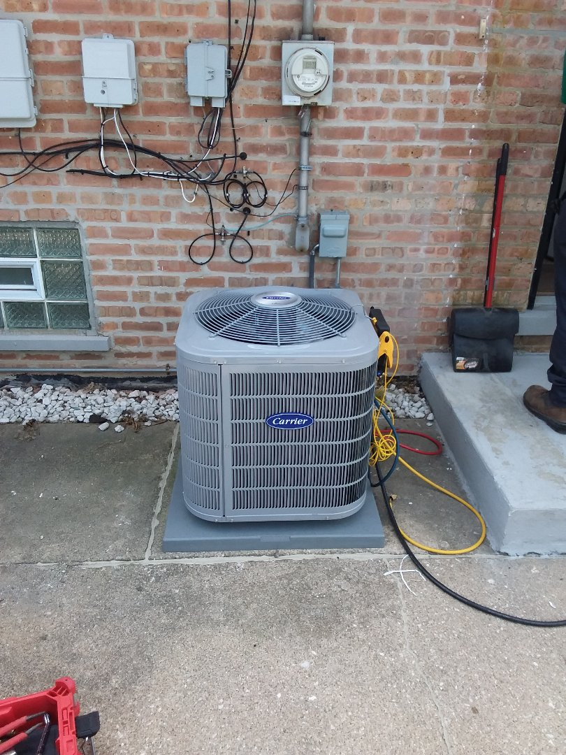 Install of a carrier furnace and condenser  coil