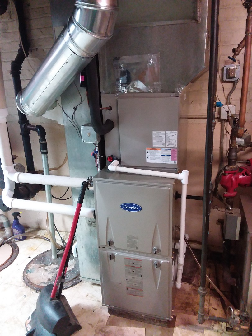 Install of a carrier furnace