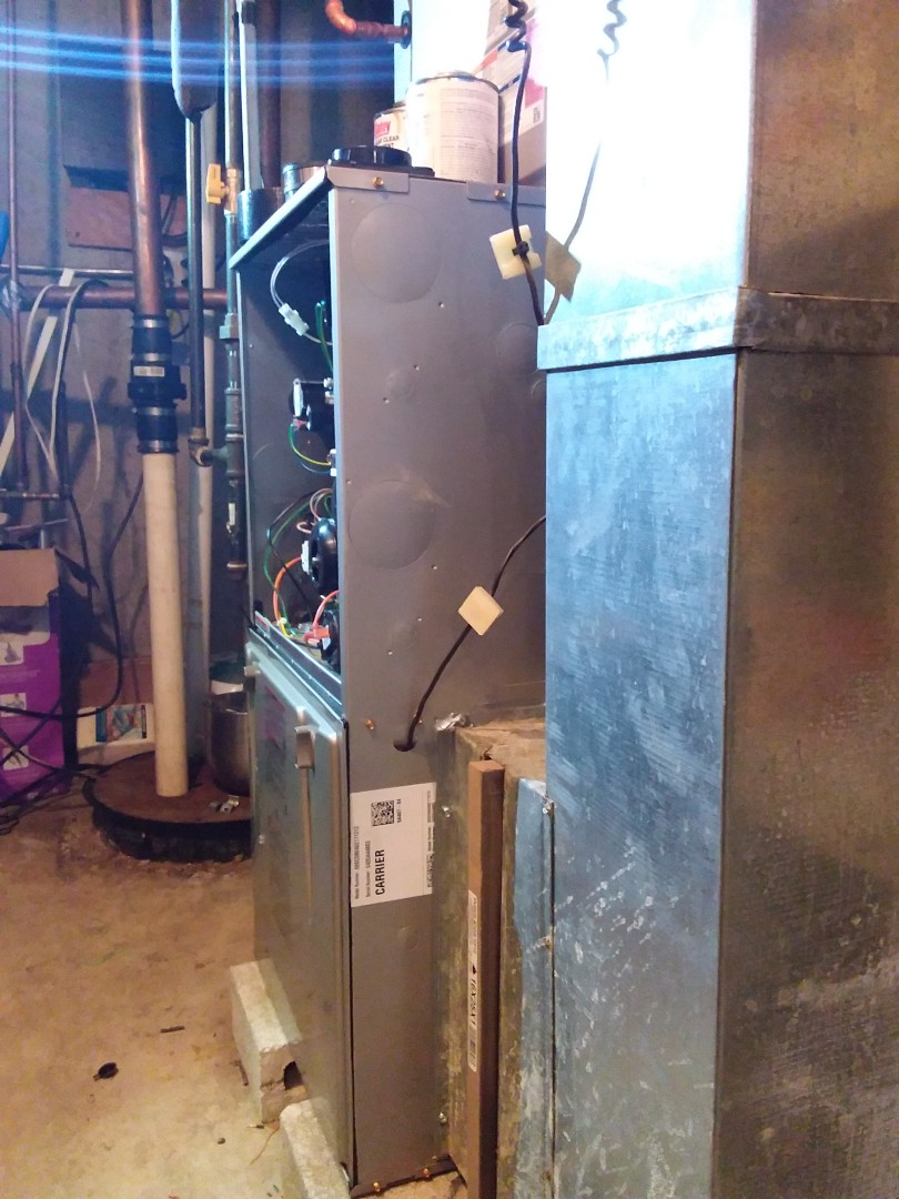 Orland Park, IL - New carrier ac, coil & furnace installation