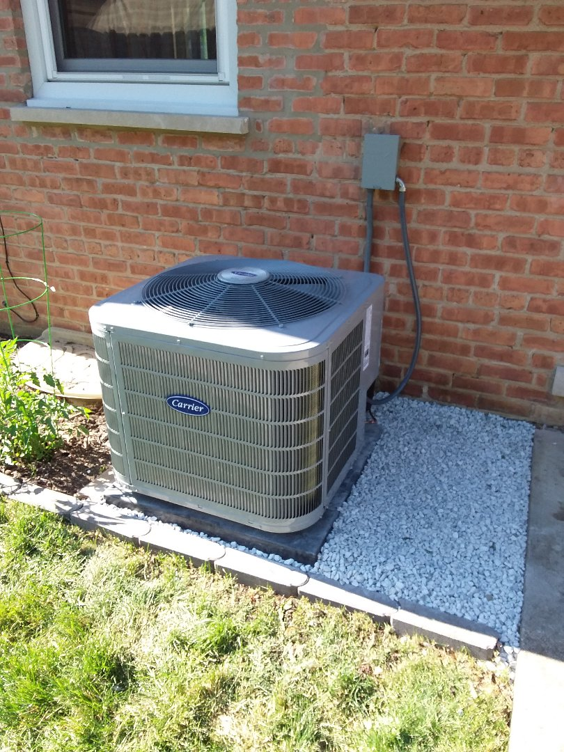 Palos Heights, IL - Install of a carrier condenser