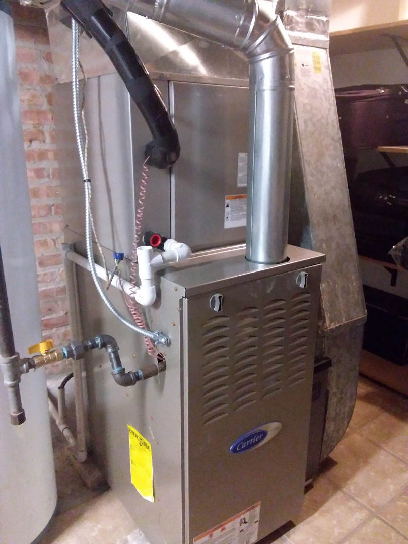 Oak Forest, IL - New carrier ac, coil & furnace installation