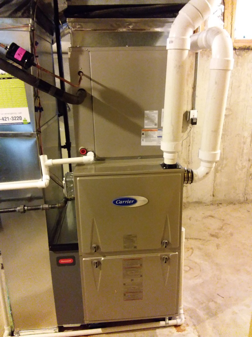 Frankfort, IL - New carrier furnace, ac& coil installation