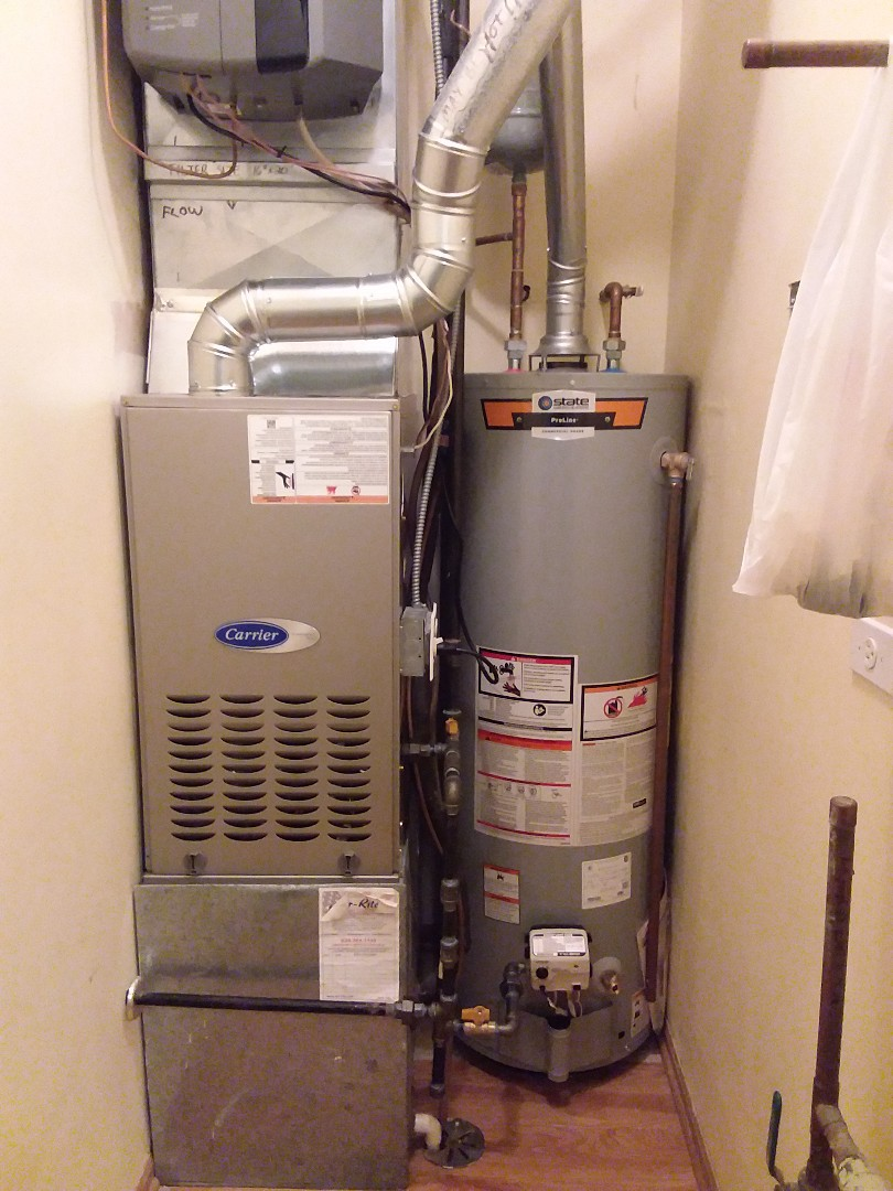 Homer Glen, IL - New carrier furnace install and 40 gallon water tank