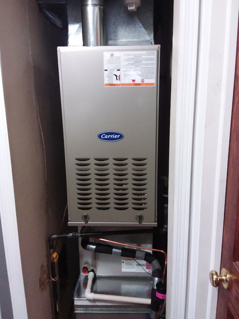 New carrier ac, coil & furnace installation