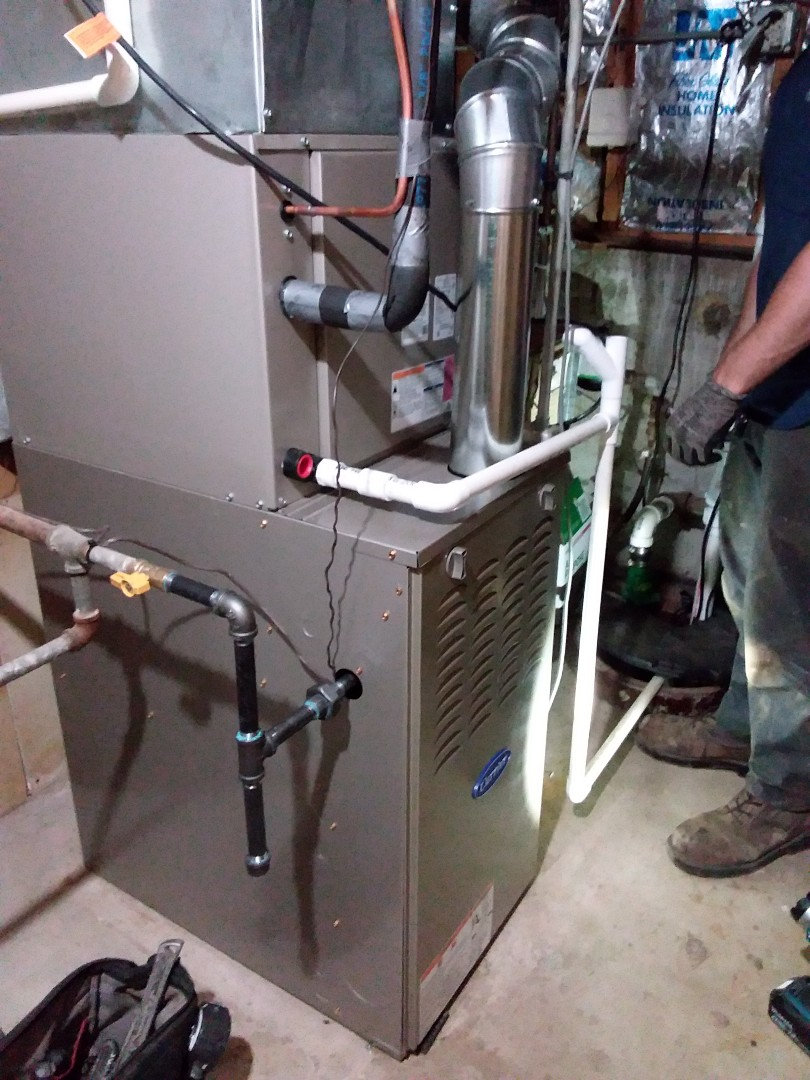 Oak Forest, IL - Installation of a carrier furnace