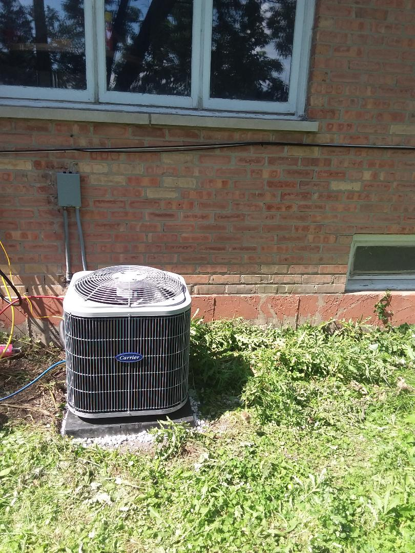 Evergreen Park, IL - Installation of Carrier Air Conditioner