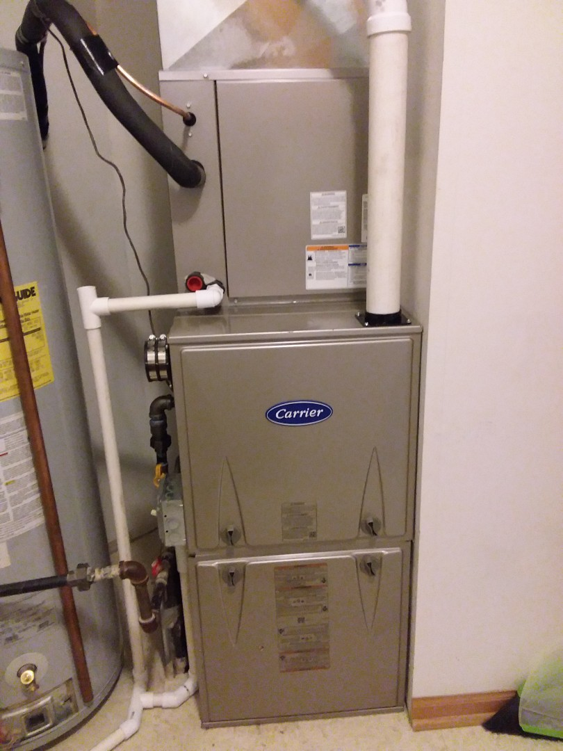 We carrier furnace, ac& coil installation