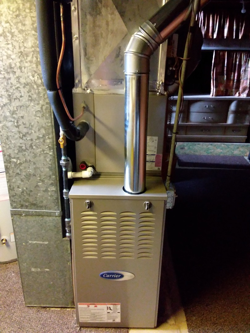 New carrier furnace, ac, coil & humidifier installation