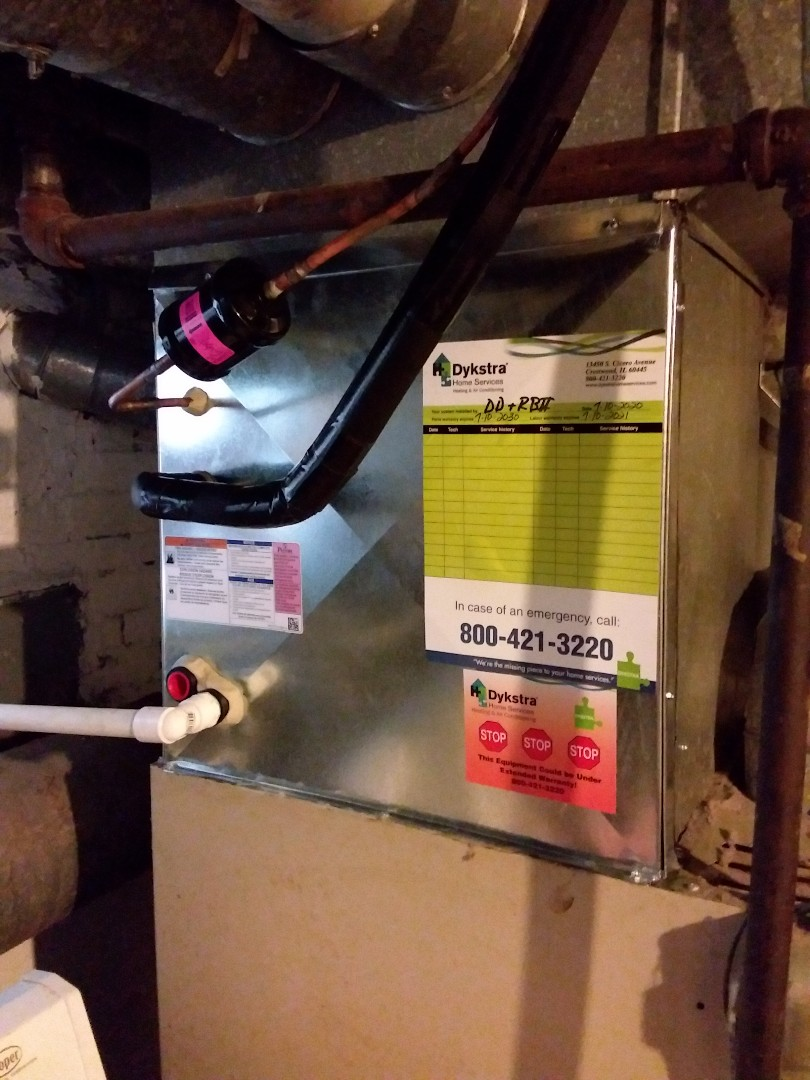 New Payne ac & coil installation