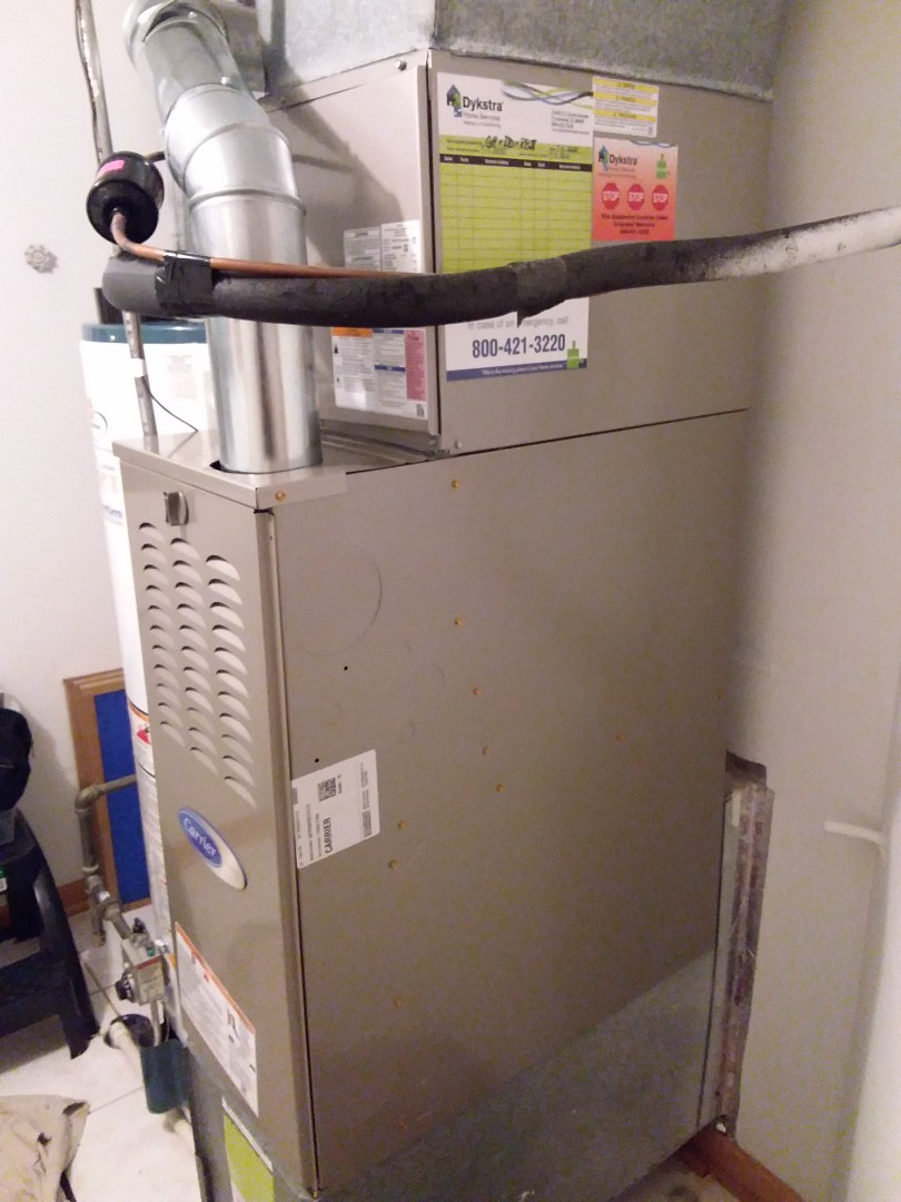 Orland Park, IL - New carrier furnace, ac & coil installation