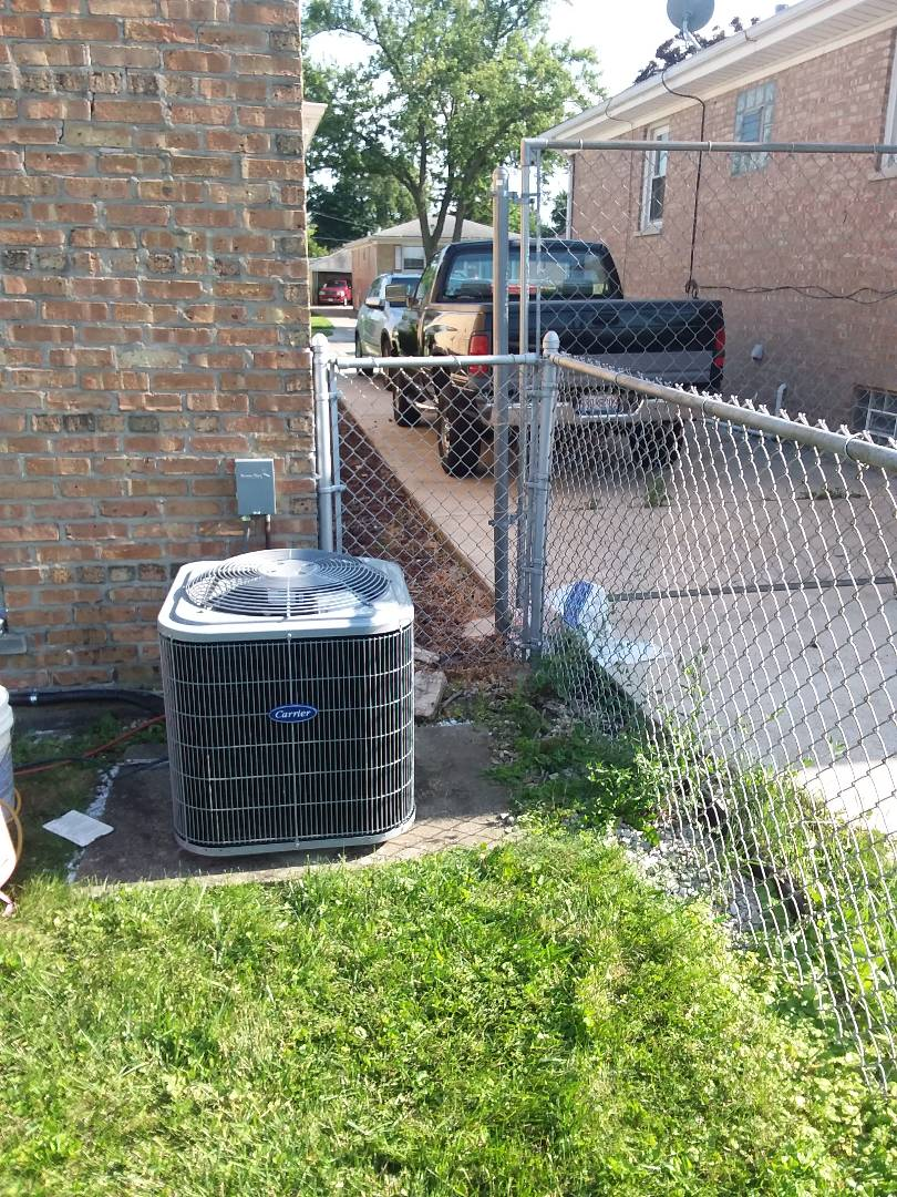 Bellwood, IL - Installation of Carrier Air Conditioner