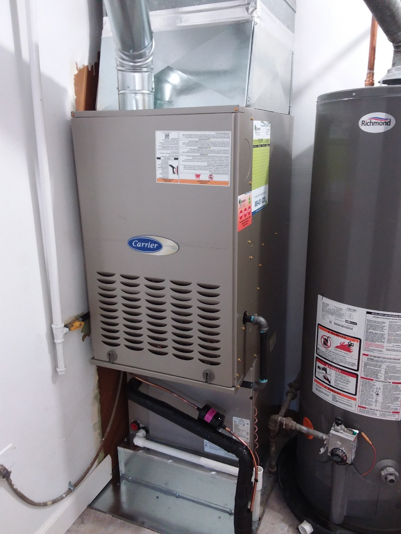 Palos Hills, IL - New carrier furnace, ac & coil installation
