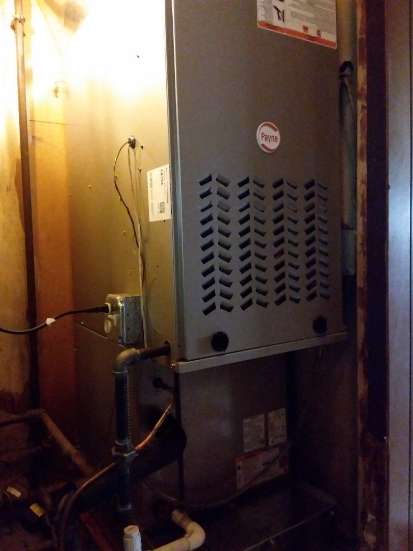 Midlothian, IL - New Payne furnace, ac & coil installation