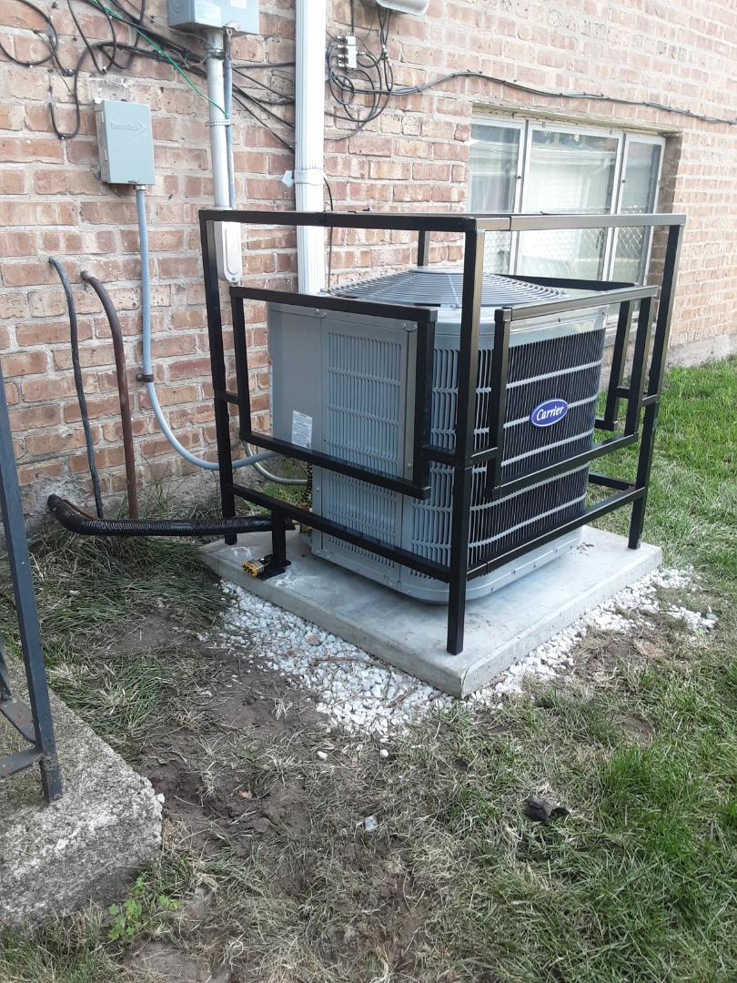 Dolton, IL - New Installation of Furnace, Air Conditioner and A/C Cage