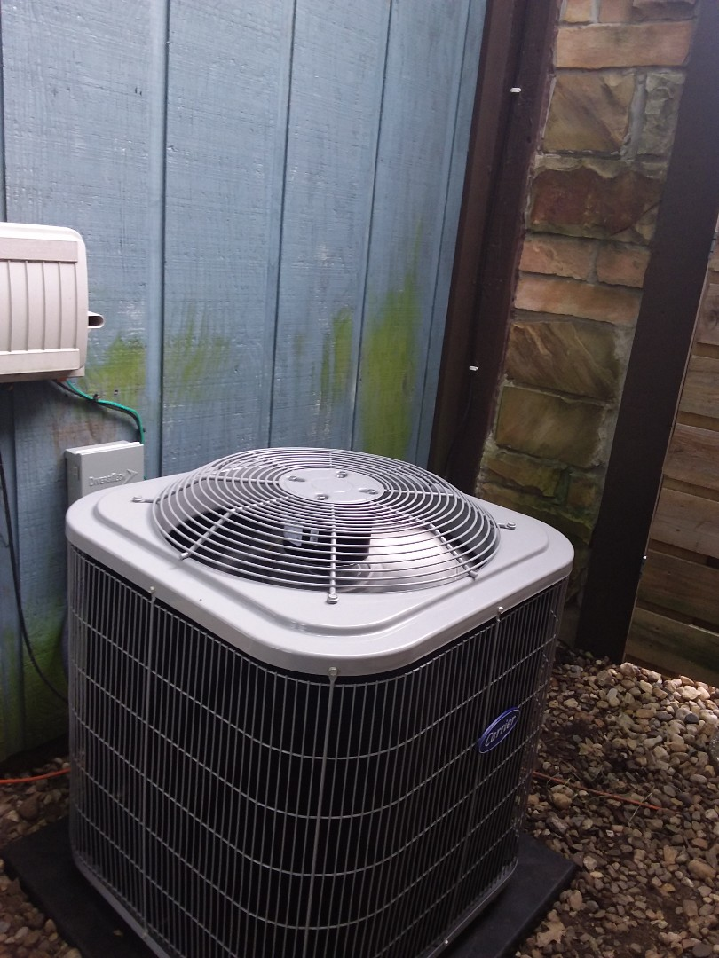 Warrenville, IL - Installation of Carrier Air Conditioner and furnace
