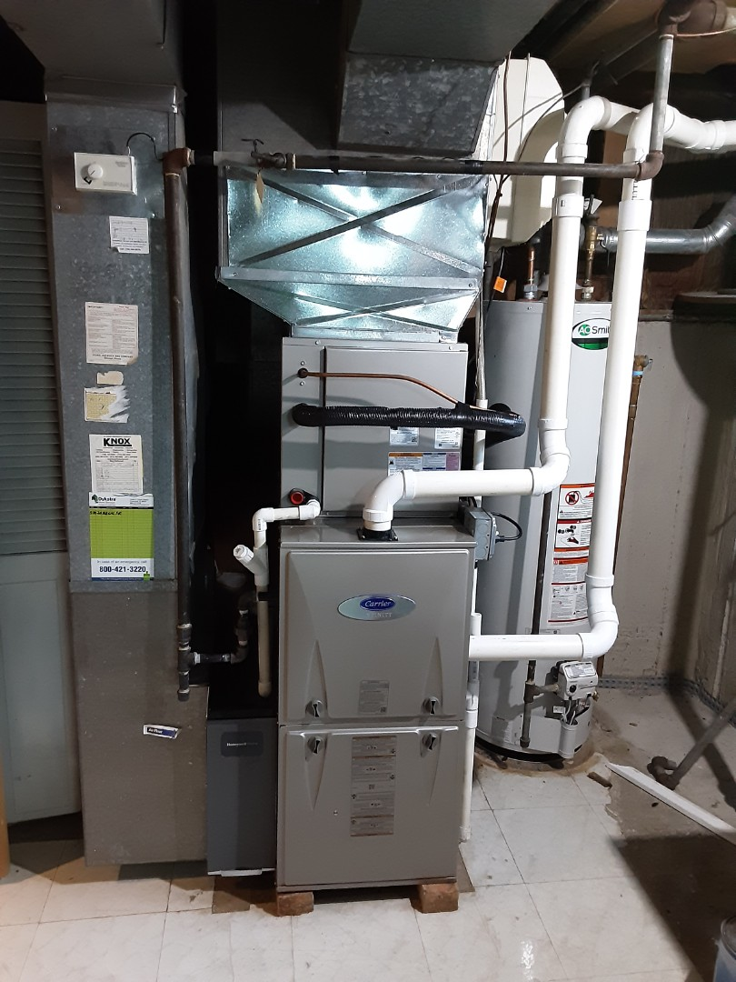 Oak Lawn, IL - New Efficient Furnace and Air Conditioner Installation