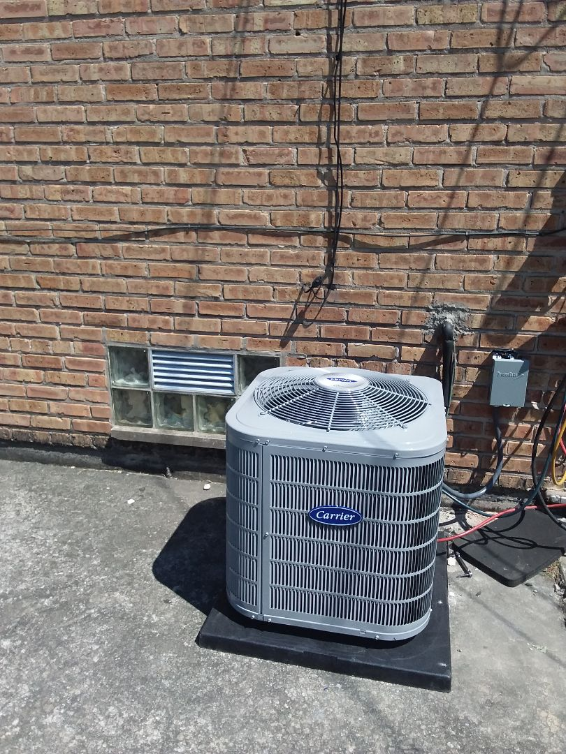 Burbank, IL - Installation of Carrier Air Conditioner