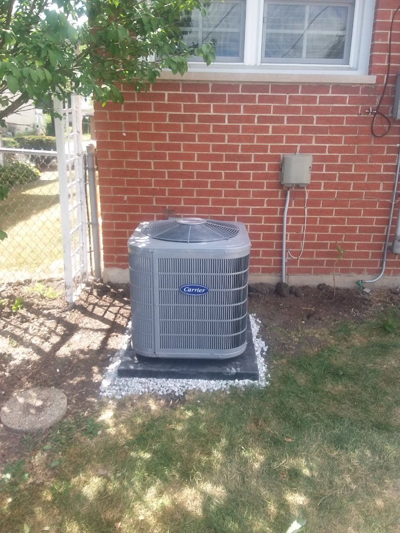 Elmhurst, IL - Installation of Carrier Air Conditioner