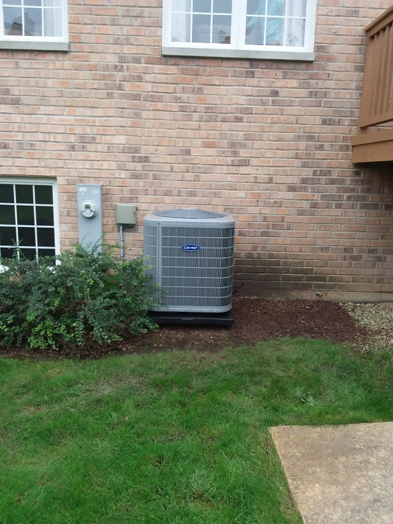 Palos Heights, IL - Installation of carrier furnace and air conditioner