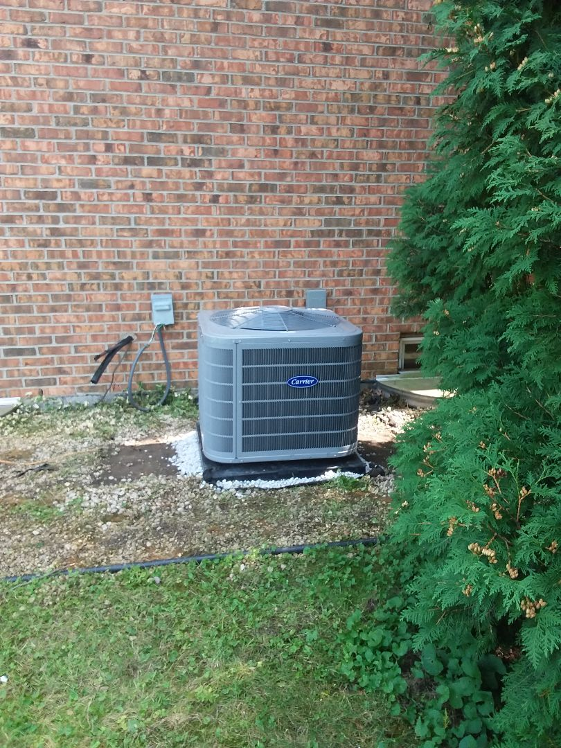 New Lenox, IL - Installation of carrier furnace and air conditioner
