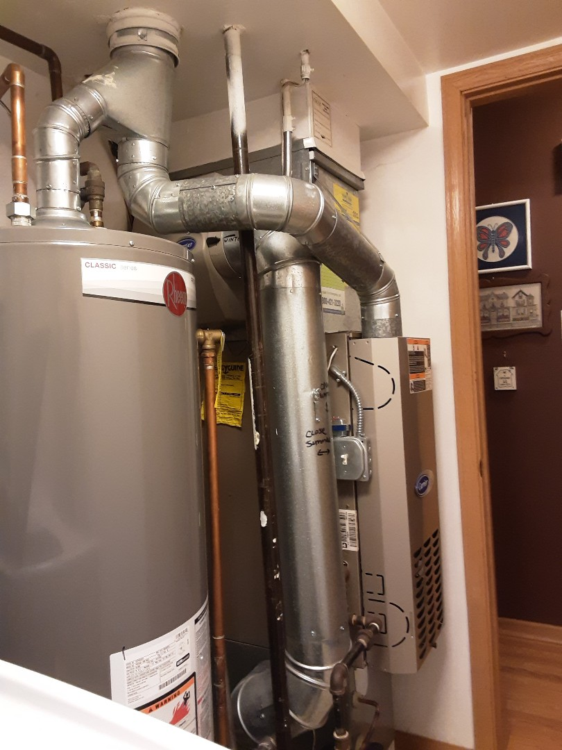 Cleaned and checked furnace and humidifier