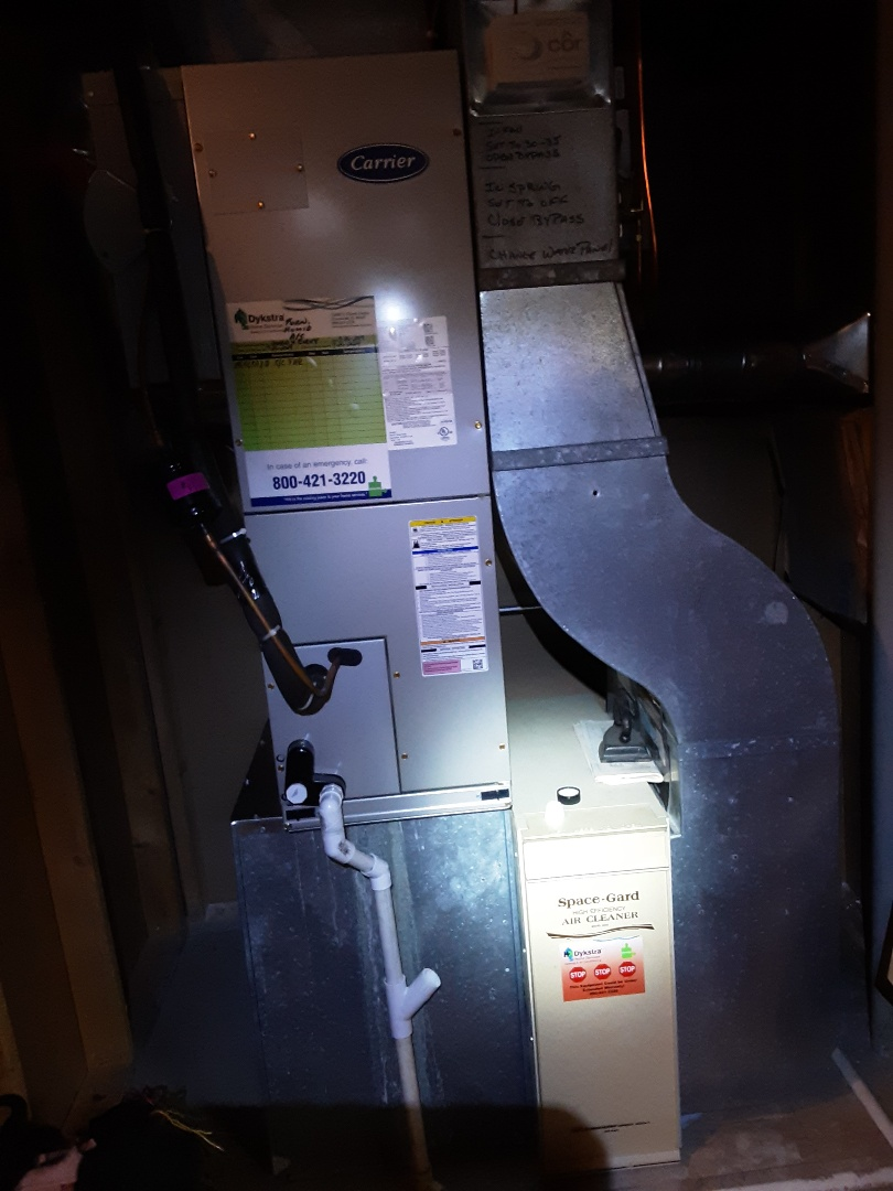 Villa Park, IL - Cleaned and checked furnace