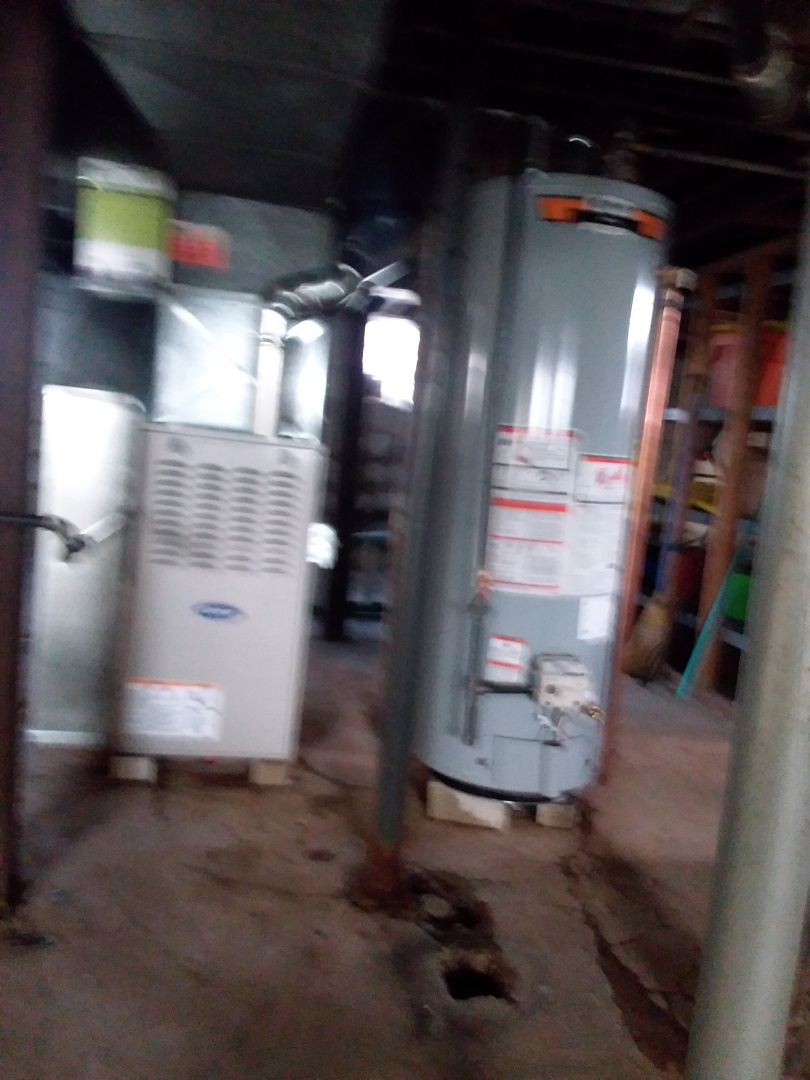 South Holland, IL - Insulation of carrier furnace and state water heater