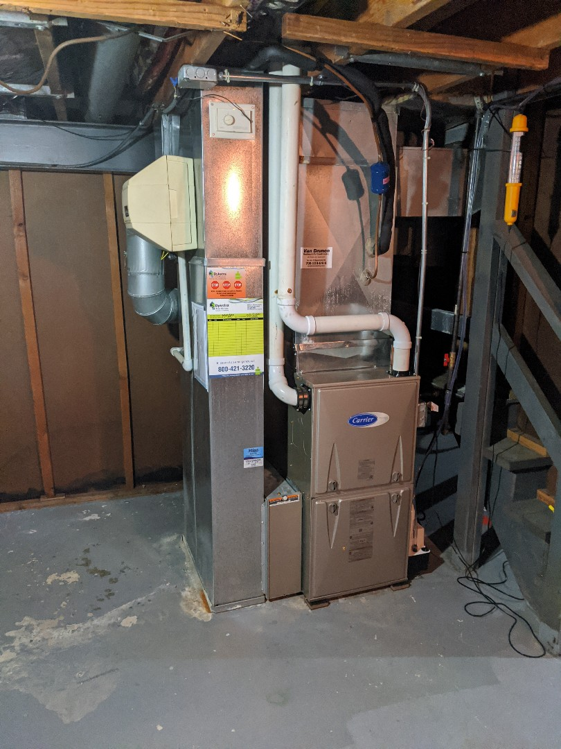Olympia Fields, IL - Carrier furnace installation