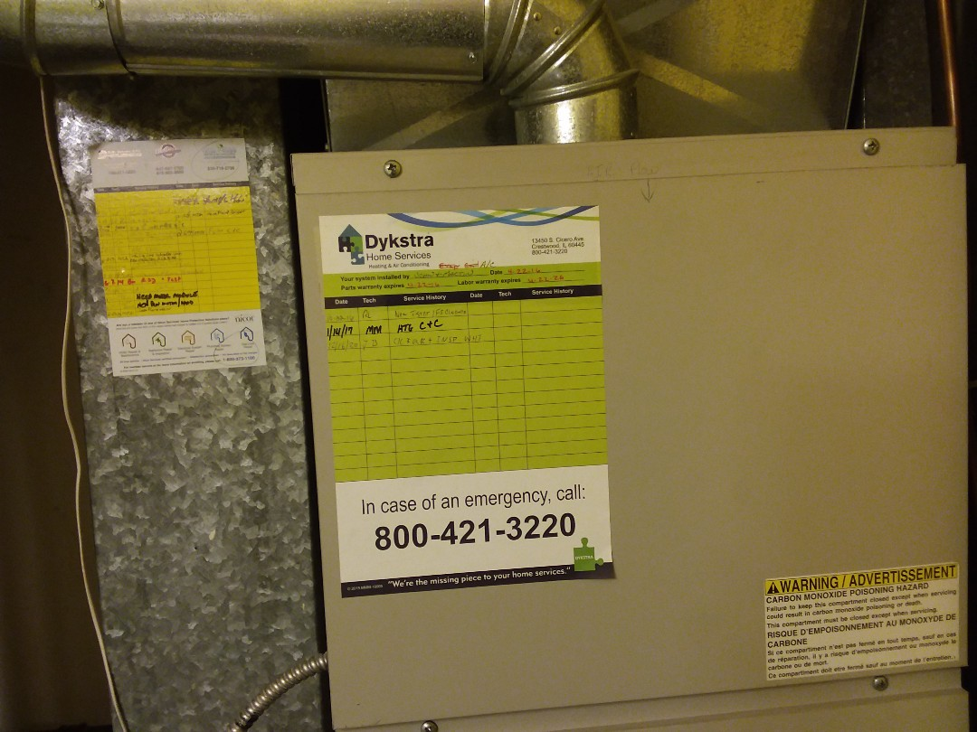 Woodridge, IL - Cleaned and checked furnace