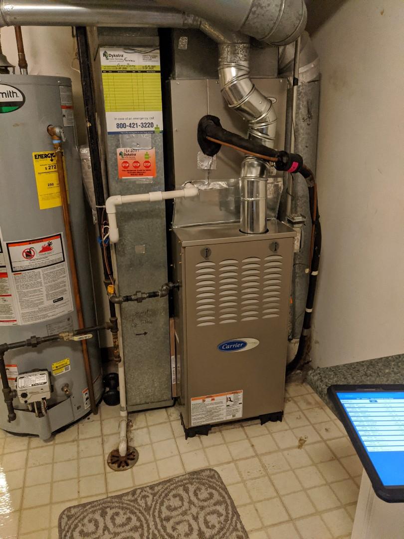 Elk Grove Village, IL - Carrier furnace installation