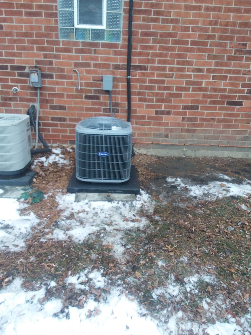 Orland Park, IL - Installation of Carrier Air Conditioner